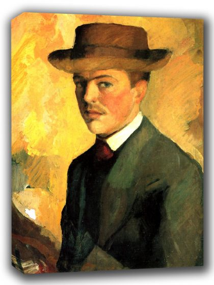 Macke, August: Self Portrait. Fine Art Canvas. Sizes: A4/A3/A2/A1 (002177)